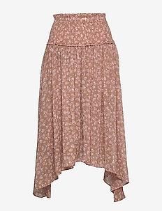 Skirt - midi kjolar - camel