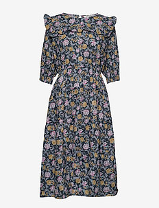 Dress - midi dresses - dark blue