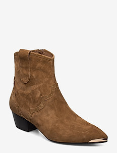 Boot - ankle boots with heel - toffee