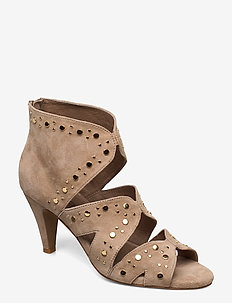 Shoe - ankle boots with heel - taupe