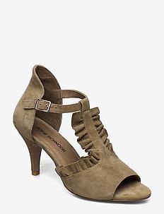 Shoe - heeled sandals - green