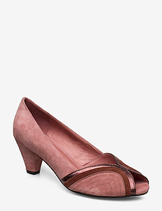 Shoe - peeptoes - dusty rose
