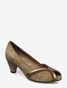 Shoe - peeptoe pump - green