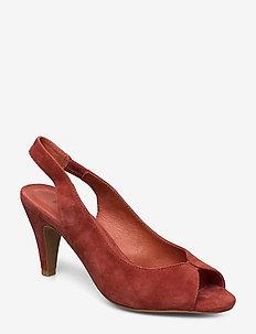 Shoe - sling backs - cherry red