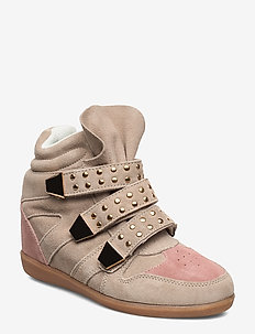 Shoe - flat ankle boots - sand