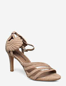 Shoe - heeled sandals - taupe