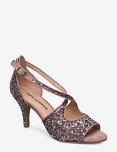 Shoe - heeled sandals - rose