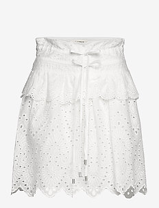 Skirt - midinederdele - white
