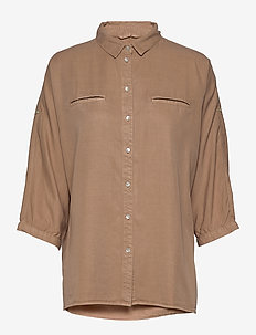 Shirt - long-sleeved shirts - camel