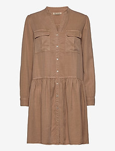 Dress - midi kjoler - camel
