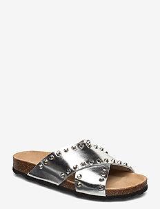 Sandal - flade sandaler - silver