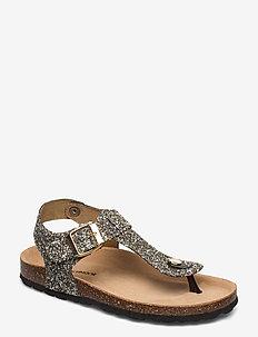 Sandal - flade sandaler - mix gold
