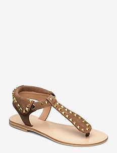 Sandal - flade sandaler - tan