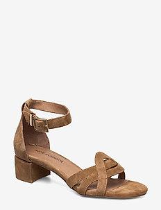 Sandal - højhælede sandaler - camel