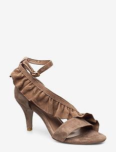 Sandal - heeled sandals - dark sand