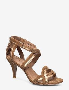 Sandal - heeled sandals - camel