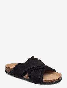Slipper - flade sandaler - black