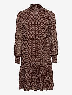 Dress - midi dresses - rosy camel