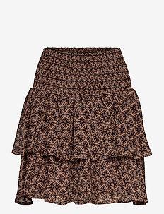 Skirt - short skirts - rosy camel
