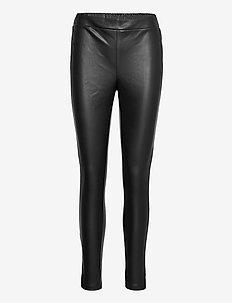 Pants - skinnbyxor - black