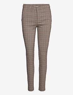 Pants - broeken med skinny fit - brown check