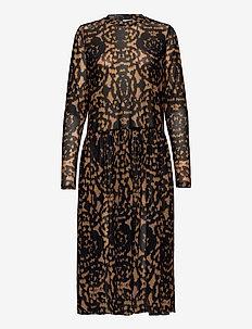 Dress - midi dresses - leopard