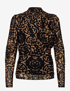 Blouse - long sleeved blouses - leopard