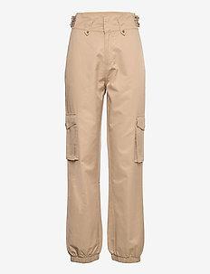 Pants - chinosy - camel