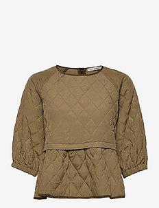 Blouse - short-sleeved blouses - beige