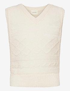 Vest - neuleliivit - off white