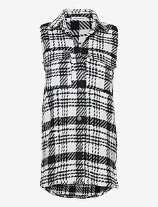 Waistcoat - stickade västar - white black