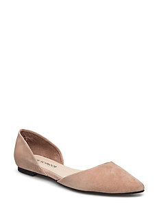 Pointy toe flat shoe - NUDE