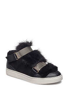 boot w. fur - BLACK