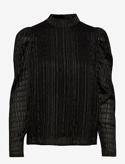 Florentine - langærmede bluser - black