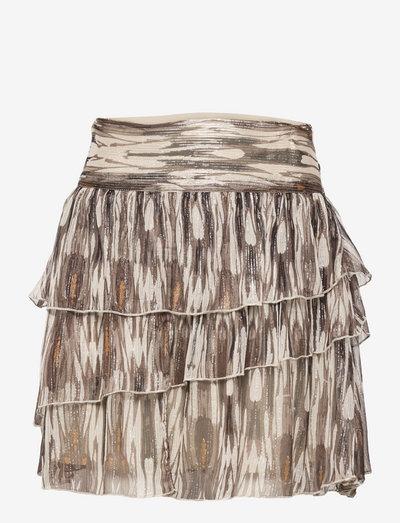 Skirt - korte nederdele - black off white