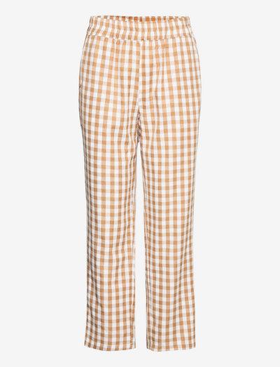 Trousers - casual bukser - camel