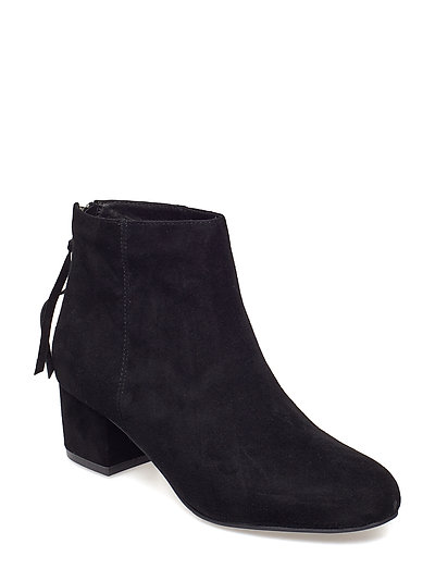 Boot suede low heel - BLACK