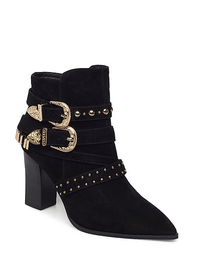 Boot buckle suede - BLACK