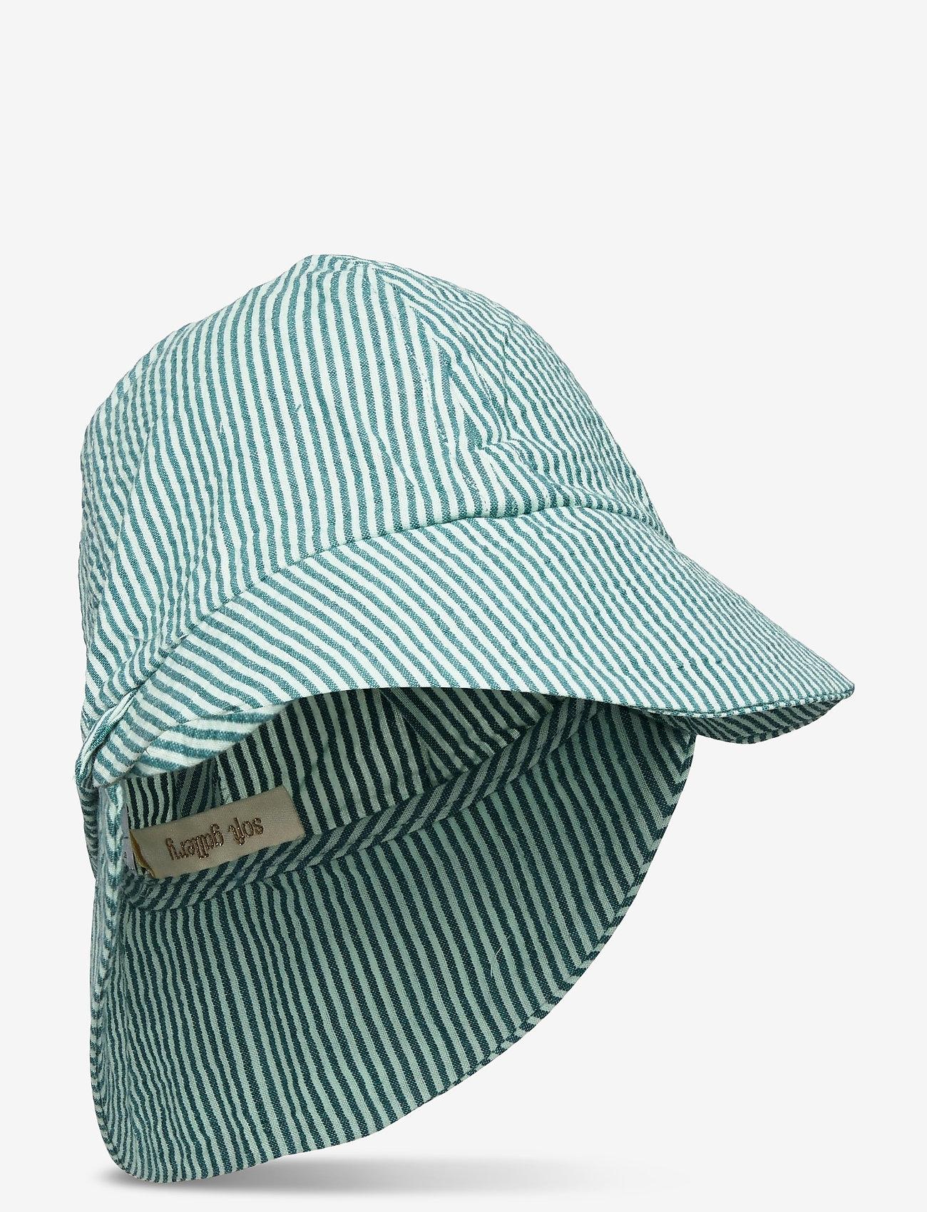 Soft Gallery - Huxi Hat - solhat - gardenia, aop seersucker stripe - 0