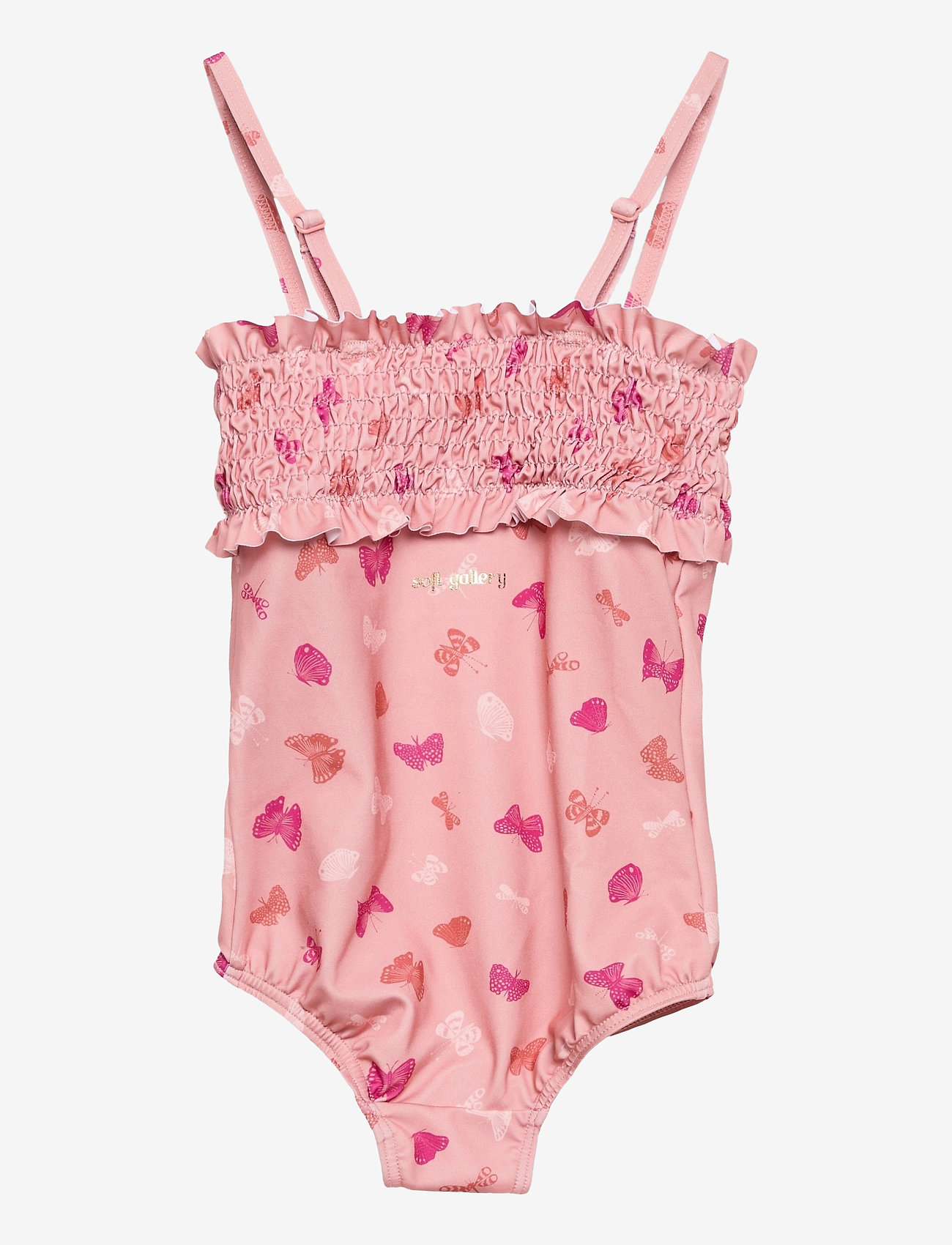 Soft Gallery - Baby Gracia Swimsuit - swimsuits - shrimp, aop fluttery s - 1