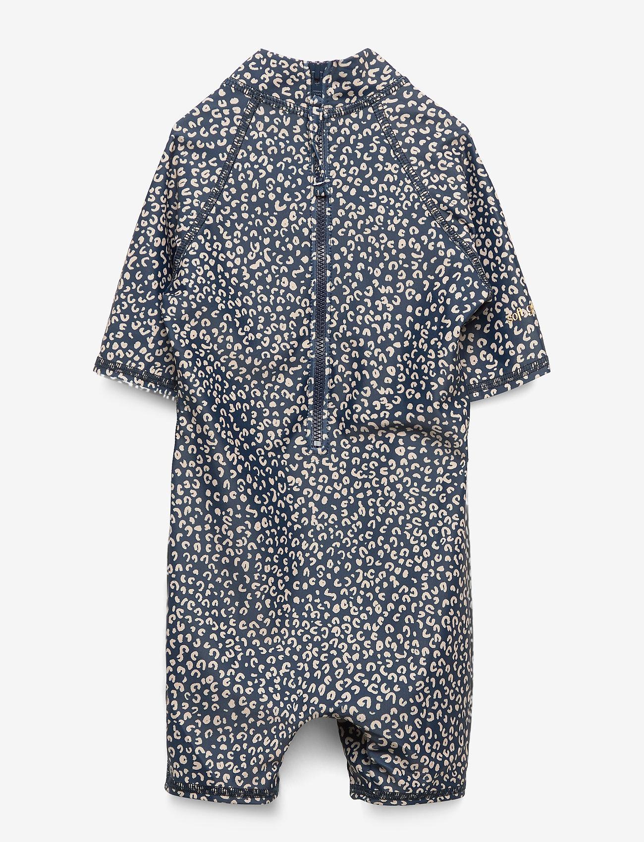 Soft Gallery Rey Sunsuit - Badkläder Dress Blue, Aop Leospot