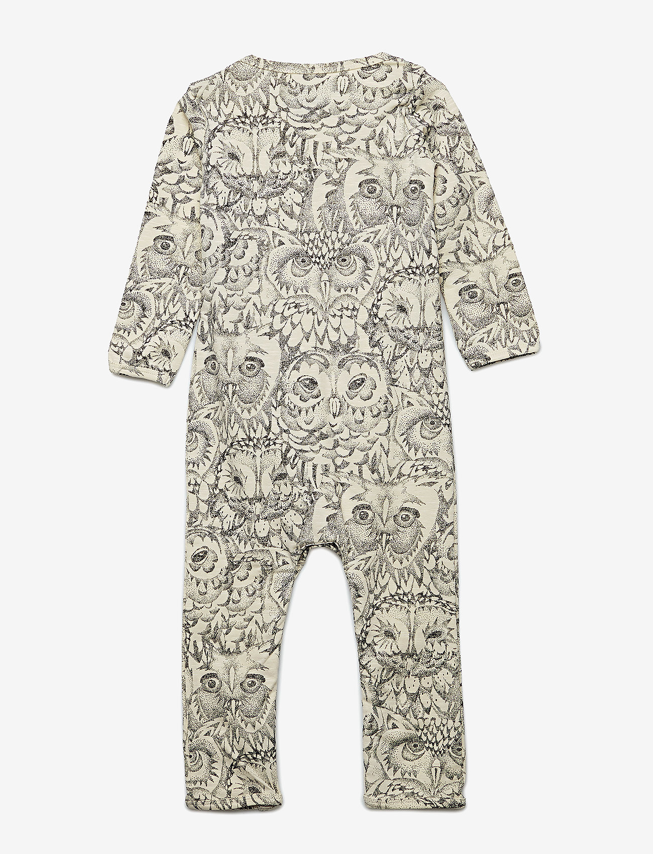 Soft Gallery - Ben Bodysuit - langärmelig - cream, aop owl - 1