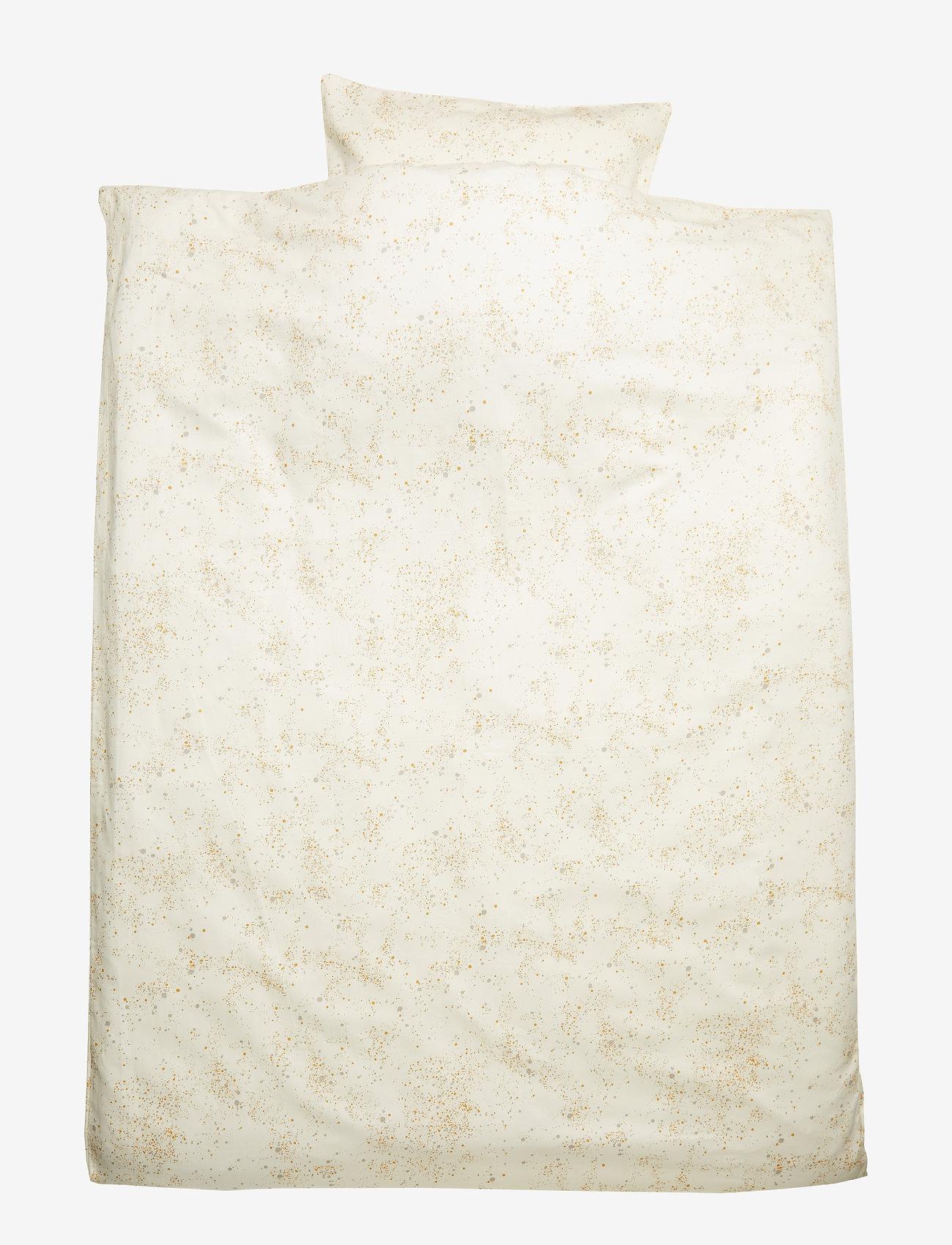 Soft Gallery - Bed Linen Junior - sypialnia - fluffy sky, aop mini splash cream - 0