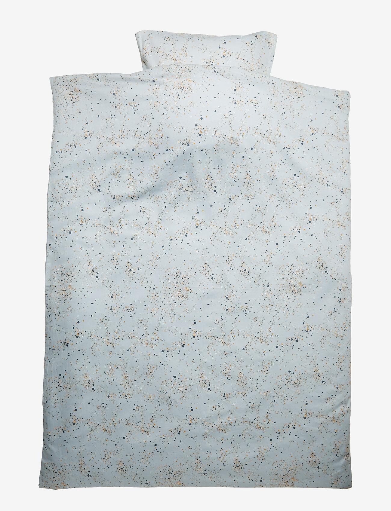 Soft Gallery - Bed Linen Junior - pościel - ocean grey, aop mini splash blue - 0