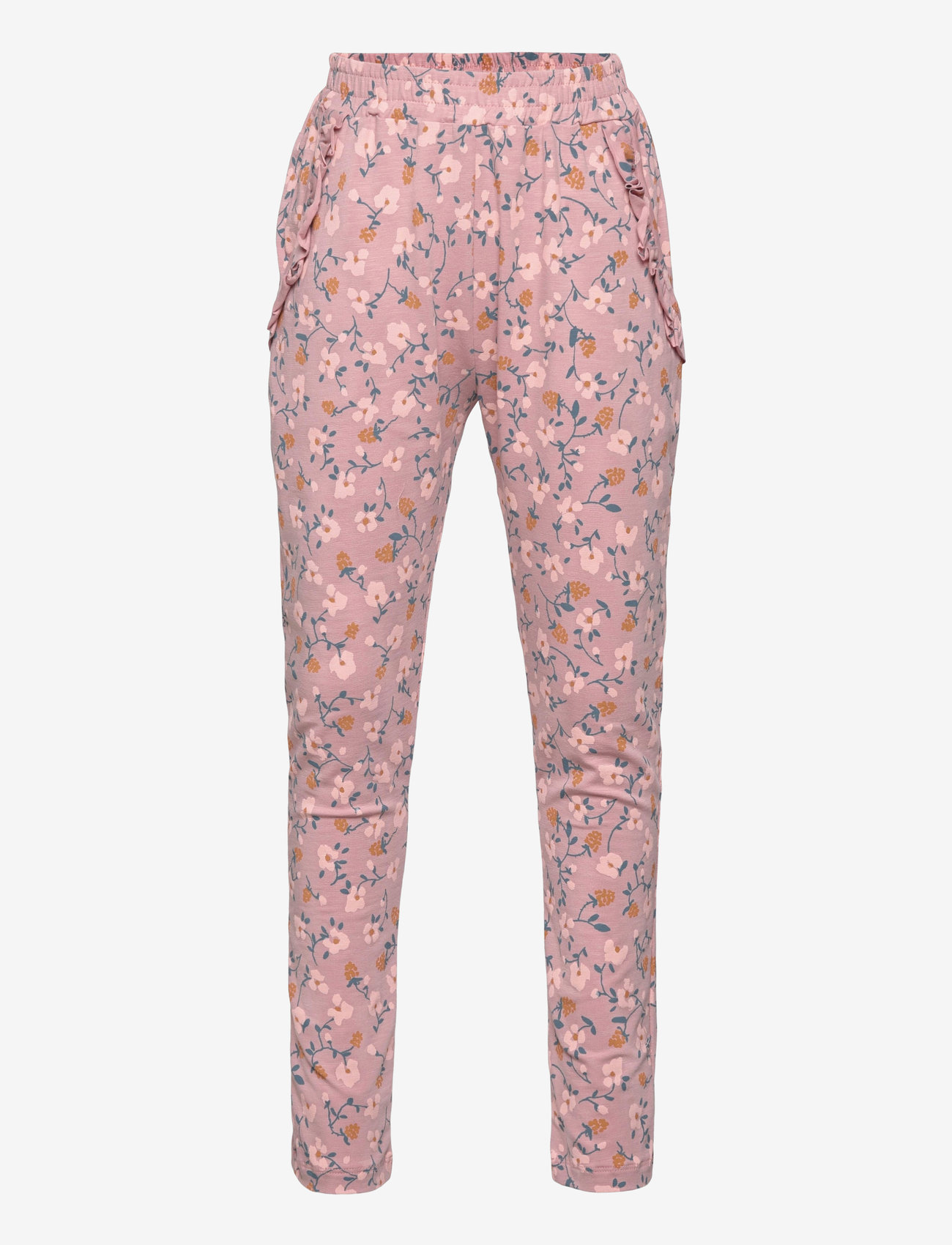 Soft Gallery - Lucy Pants - trousers - woodrose, aop flowerberry - 0