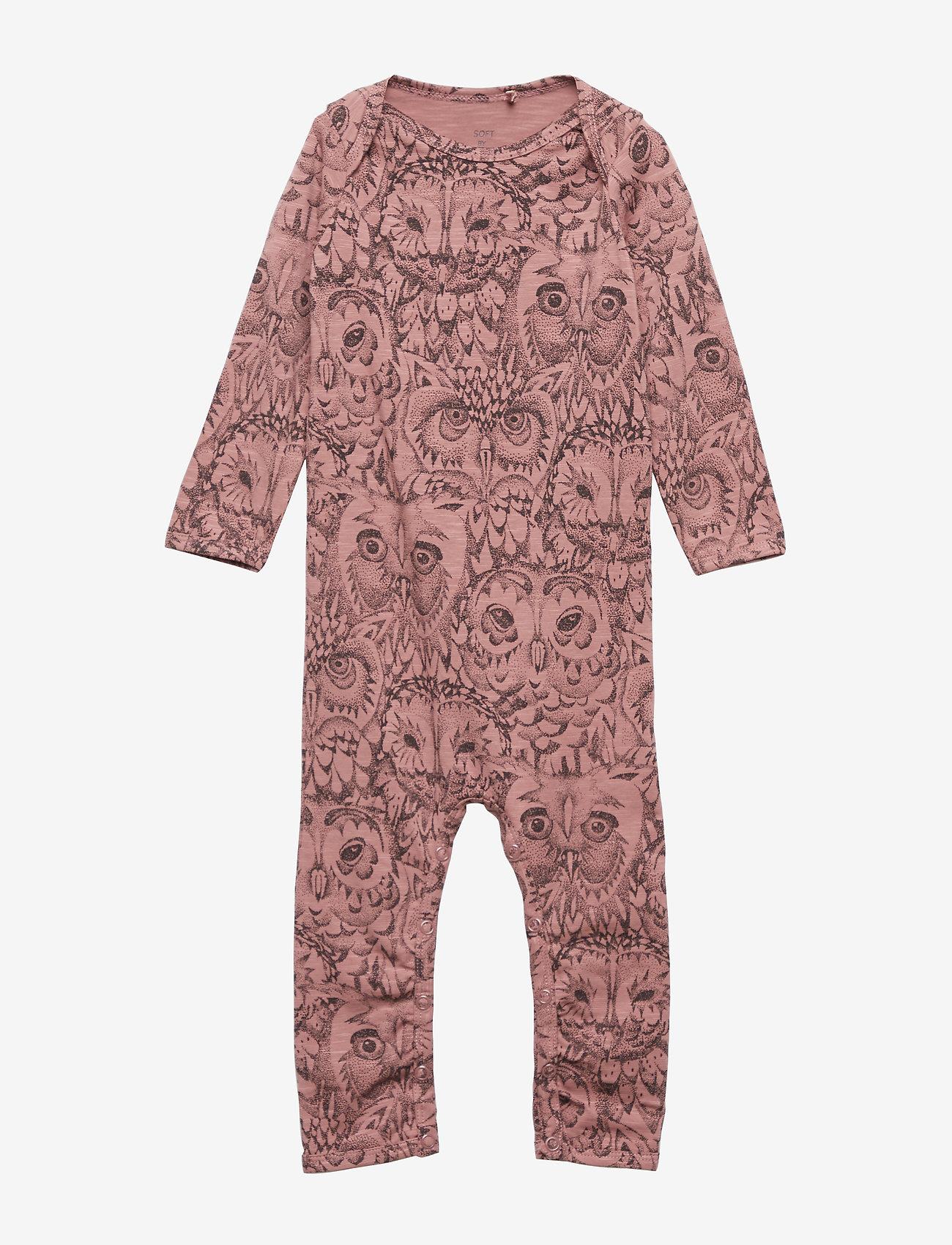 Soft Gallery - SGBen Bodysuit - NOOS - langärmelig - burlwood, aop owl - 0
