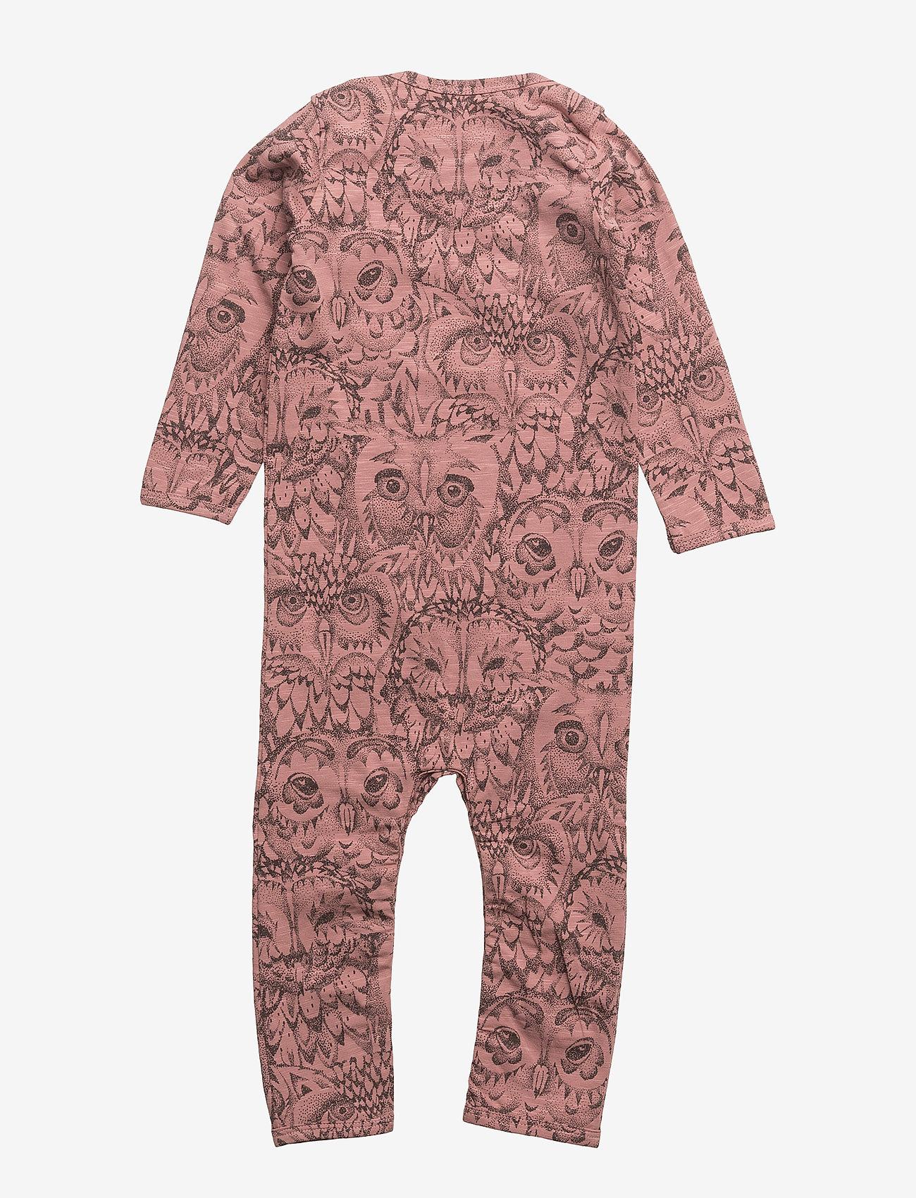 Soft Gallery - SGBen Bodysuit - NOOS - langärmelig - burlwood, aop owl - 1