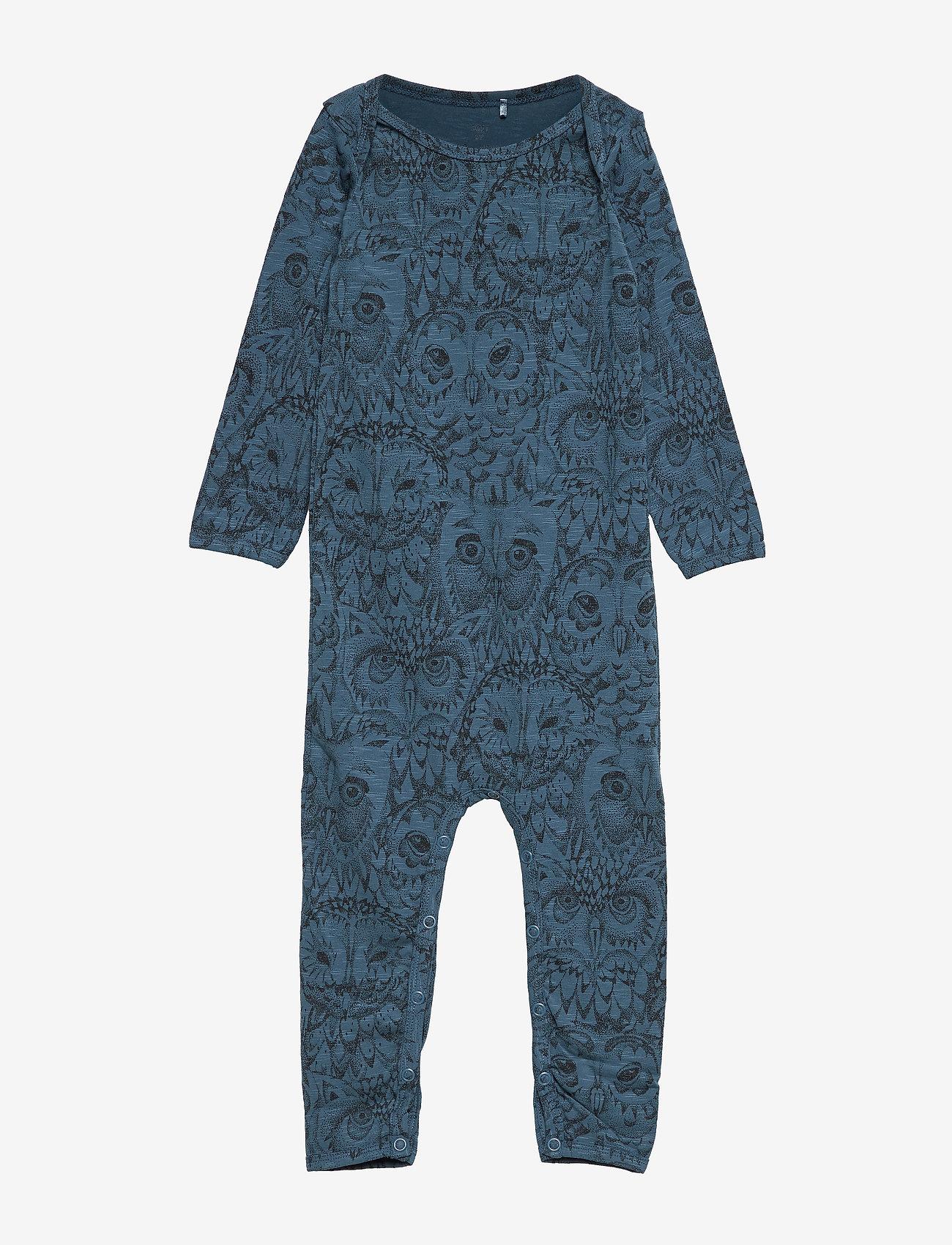 Soft Gallery - SGBen Bodysuit - NOOS - langärmelig - orion blue, aop owl - 0