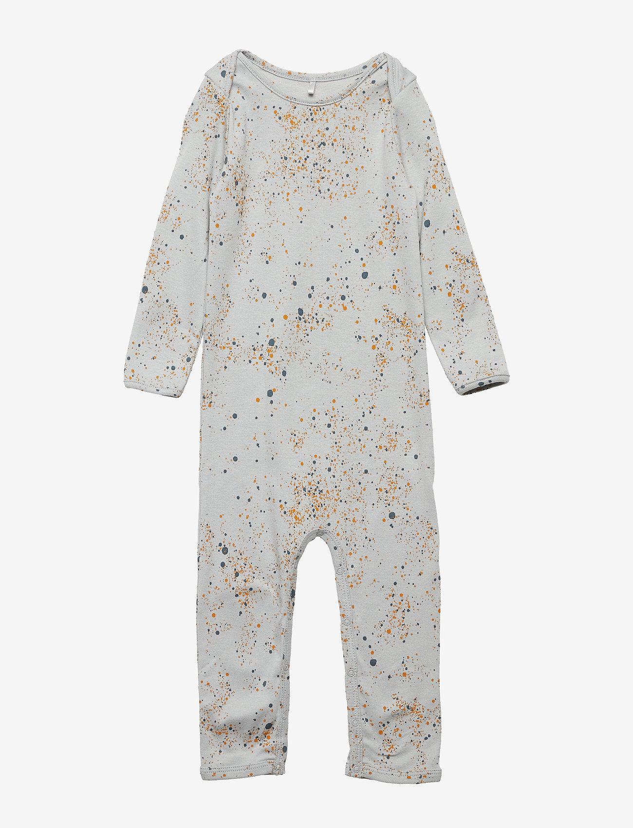 Soft Gallery - Ben Bodysuit - langärmelig - ocean grey, aop mini splash blue - 0