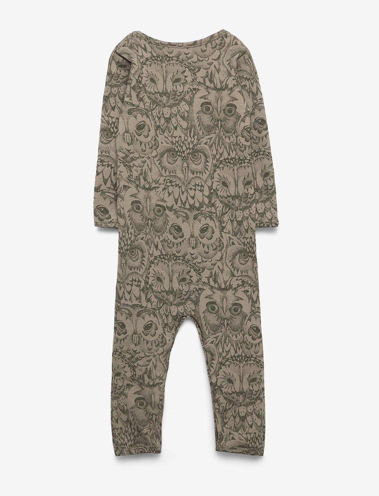 Soft Gallery Ben Bodysuit - Bodysuits Vetiver, Aop Owl Vetiver